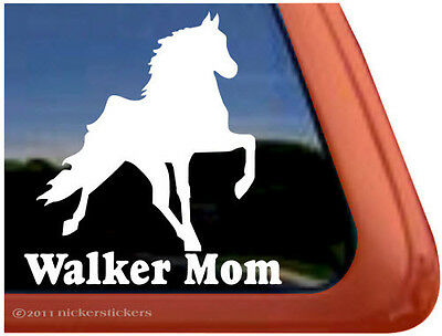 WALKER MOM ~ High Quality Tennessee Walking Horse Trailer Window Sticker Decal