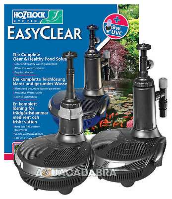 Hozelock Easyclear Fish Pond Pump Uv Uvc Filter All In One Inpond Whole Range