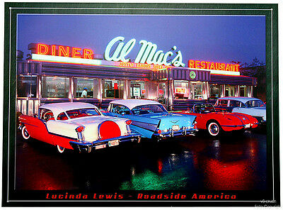 * American Drive-In Vintage Cars Auto 50er 60er Auto Blech Reproschild 94*