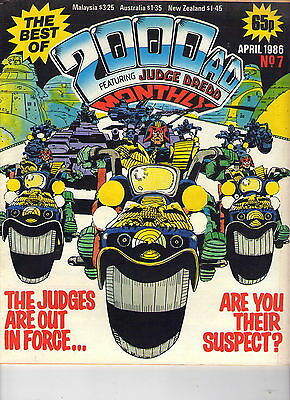 2000Ad Monthly # 7 / Fine / 1986.