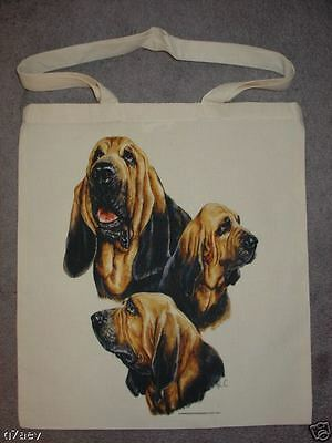 3 Bloodhound Dogs Design Printed On A Tote Shopping Bag