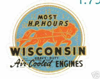 Wisconsin Air Cooled Engine Vinyl Sticker (A050)