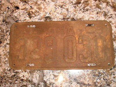 1939 Indiana License Plate 329 030
