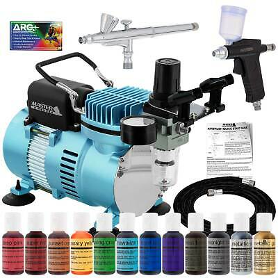 Cake Airbrush Decorating Kit 2 Airbrushes Compressor And