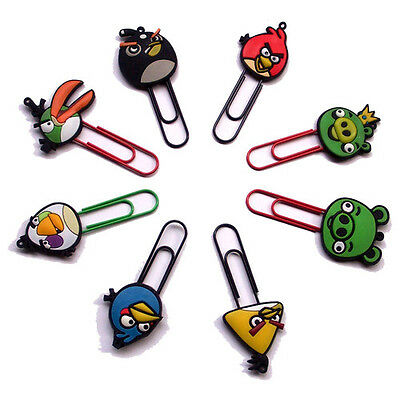 Angry Birds Bookmark Paper Clip – Set of 16 pcs