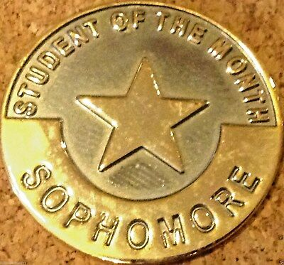 """STUDENT OF THE MONTH SOPHOMORE"" STAR Enamel Lapel Pins, Lot of 25! ALL NEW!"