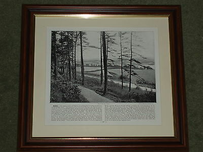 1895 Print over 100 years old Menai From Bangor Wood Anglesey