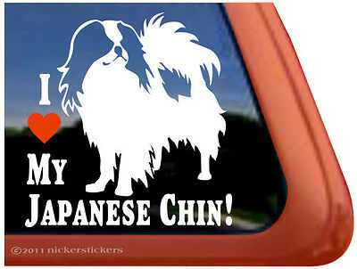 I LOVE MY JAPANESE CHIN! ~ High Quality Vinyl Dog Window Decal Sticker
