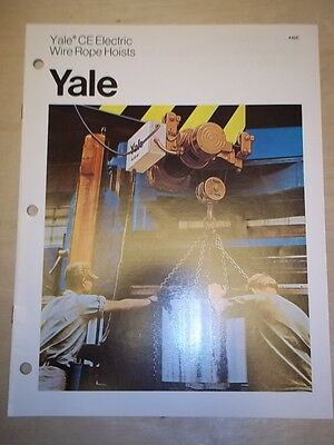 Vtg Eaton Materials Handling Catalog~Yale Wire Rope Hoists