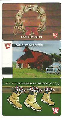 TSC Tractor Supply Co Lot of (3) Gift Cards No $ Value Collectible w/ Holiday