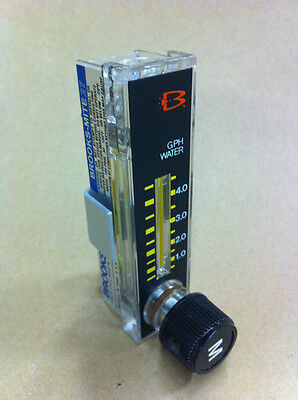 """Brooks Purge Meter, 1/8"""" Female NPT, 316SS, Back Connections, Viton O-Rings"""