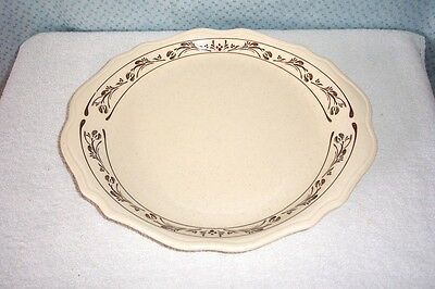 "SYRACUSE CHINA 12"" OVAL PLATTER # 11-G   U.S.A. 1982 SCALLOPED EDGE"