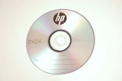 25 HP Logo 16X DVD-R DVDR Recordable Blank Disc Media 4.7GB with Paper Sleeves