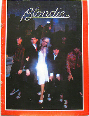 BLONDIE 1978 US Tour Concert Program Orig