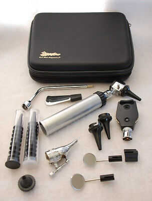 Deluxe Pro-Physician ENT Kit -Otoscope Ophthalmoscope!