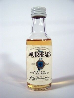 Miniature circa 1976 Muirheads Blended Whisky Isle of Wine
