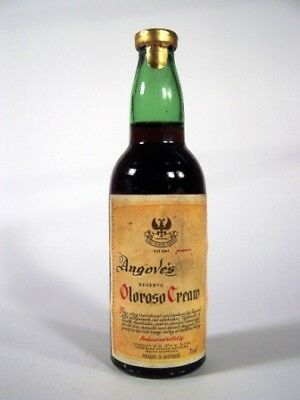 Miniature circa 1975 Angoves Oloroso Cream Sherry Isle of Wine