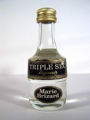 Miniature circa 1979 Marie Brizard Triple Sec Liqueur Isle of Wine