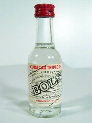 Miniature circa 1971 Bols Cuaracao Triple Sec Isle of Wine