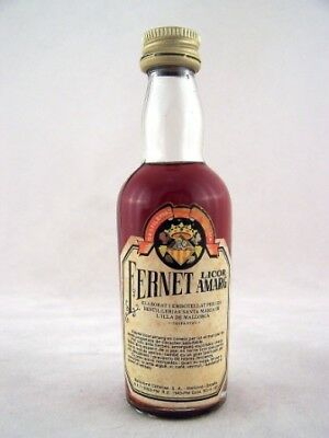 Miniature circa 1975 Fernet Licor Amarg Isle of Wine