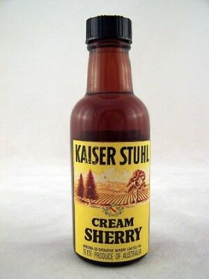 Miniature circa 1975 Kaiser Stuhl Cream Sherry Isle of Wine