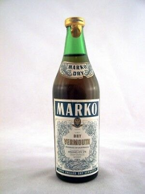 Miniature circa 1974 MARKO Dry Vermouth 85ml Isle of Wine