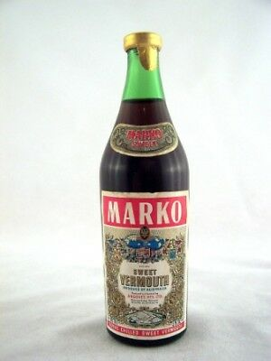 Miniature circa 1974 MARKO Sweet Vermouth 85ml Isle of Wine