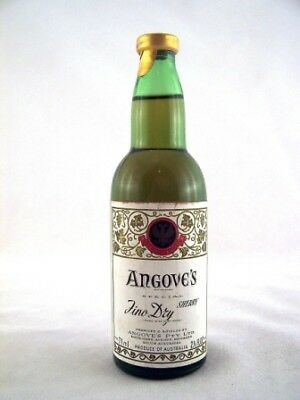 Miniature circa 1974 ANGOVES Fino Dry Sherry 85ml Isle of Wine