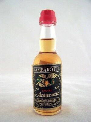 Miniature circa 1977 GAMBAROTTA Amaretto Isle of Wine