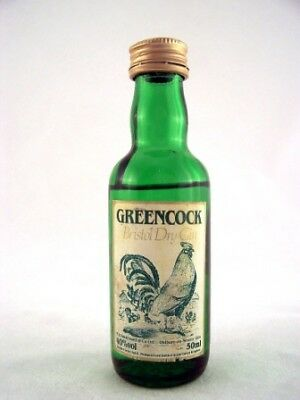 Miniature circa 1976 Greencock Bristol Dry Gin Isle of Wine