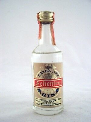 Miniature circa 1978 Schenley Extra Dry Gin Isle of Wine