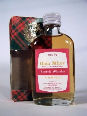 Miniature circa 1969 8yo Glen Mhor Whisky Isle of Wine