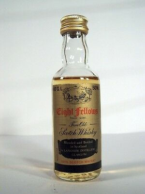Miniature circa 1976 Eight Fellows Whisky Isle of Wine