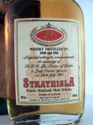 Miniature Dated 1948 & 1961 STRATHISLA Malt Whisky Isle of Wine