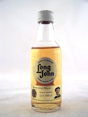 Miniature circa 1977 Long John Scotch Whisky Isle of Wine