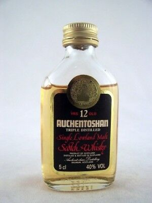 Miniature circa 1977 Auchentoshan 12YO Whisky Isle of Wine