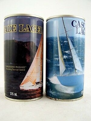 1985 & 1986 CASCADE Sydney to Hobart Lager x2 FULL Isle of Wine