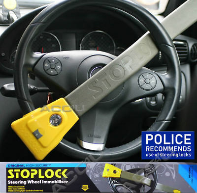 StopLock Original High Security Flashing LED Car Steering Wheel Lock Immobiliser