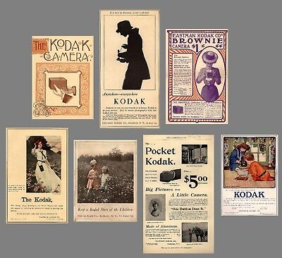 Antique Camera  Collection KODAK ADS 1886-1923 - MANY