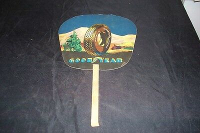 Vintage Antique Goodyear Tires Advertising Paper Fan