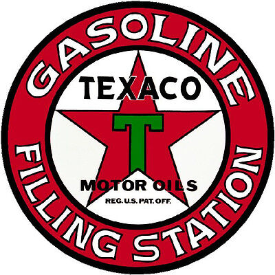Texaco Filling Station  Vinyl Sticker (A1883) 6 Inch