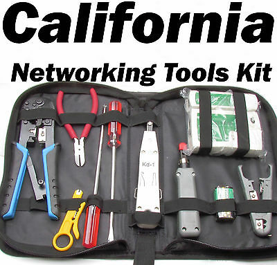 Networking RJ45 RJ11 RJ12 Cable Punch Down Tool Kit Tester Crimper Cutter CAT5 6