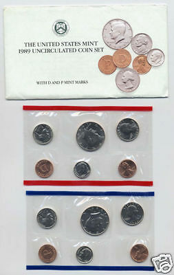 1989 Us Mint-P&D Uncirculated 10 Coin Set