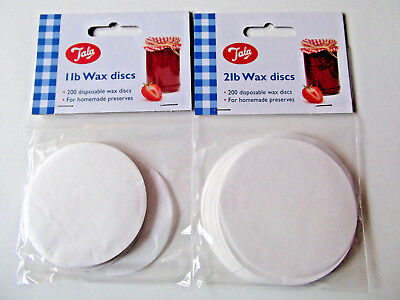 Tala 200 X Wax Discs 1Lb Or 2Lb For Jam Making Preserving Marmalade Chutney Etc