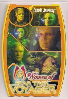 Star Trek Women Of Voyager HoloFEX MorFex Chase Card M1 Captain Janeway