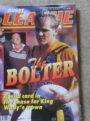 Rugby League Week Vol 23 no 6 March 11 1992 very good condition