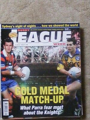 Rugby League Week Vol 30 no 5 March 10 1999 very good condition