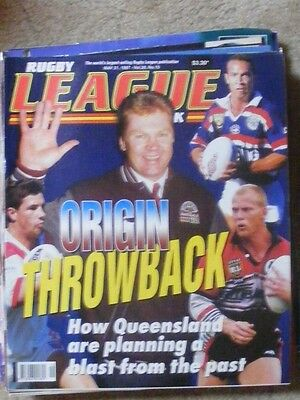 Rugby League Week Vol 28 no 15 May 21 1997 very good condition