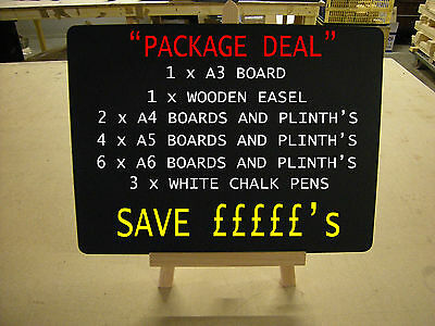"""BLACKBOARDS   """"PACKAGE DEAL""""  FOR USE WITH LIQUID CHALK PENS - SAVE ££££s"""