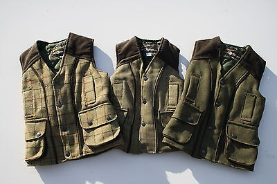 Kids Derby Bronte Thomas Waist coat Smart Fitted Boys Tweed Body warmer
